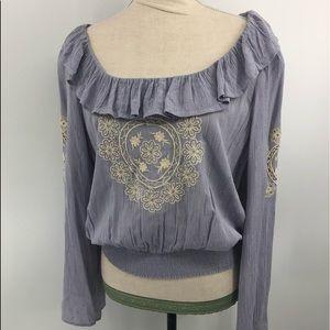 American Eagle purple boho top